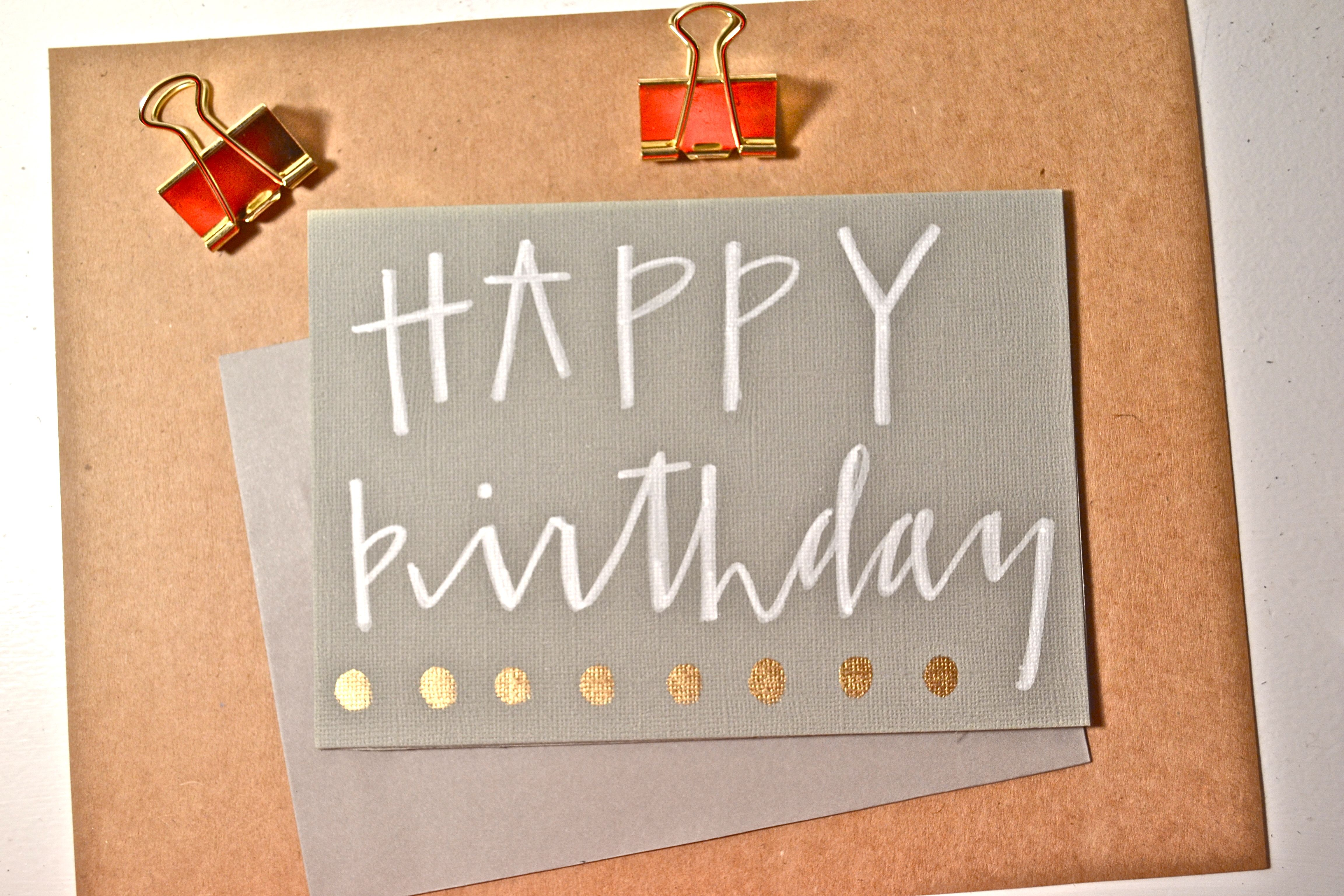 Modern Calligraphy Happy Birthday Birthday Card With Images