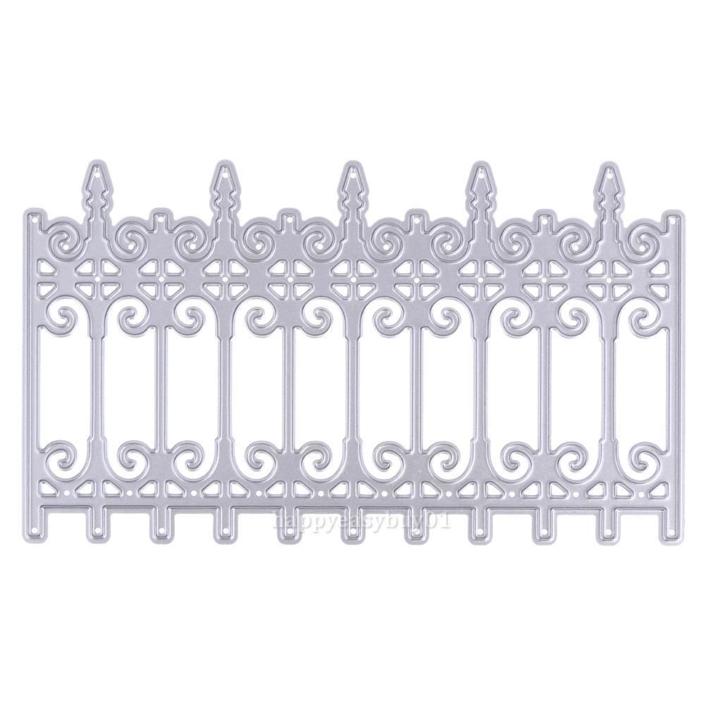 Fence Cutting Dies Stencil Scrapbooking Album Paper Card Embossing ...