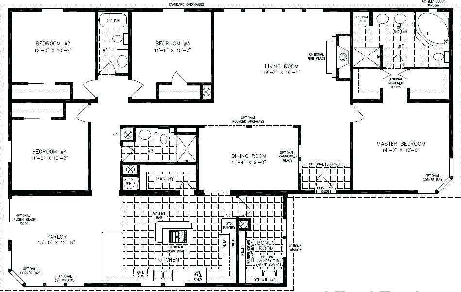 floor plans 2000 square feet sq ft 1 story house plans