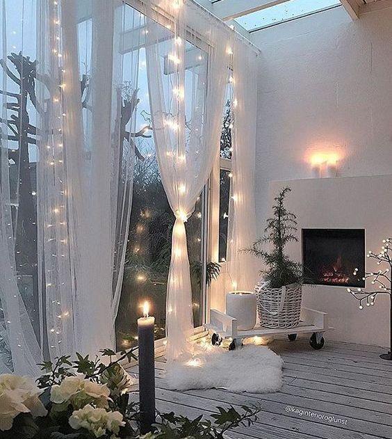 25 Gemütliche Lichterketten Ideen Für Wohnzimmer | Mobelkunst.com