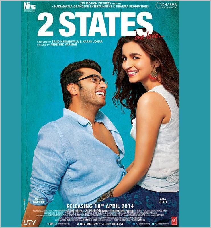 فيلم الدراما والرومانسية الهندي Watch Online 2 States 2014 Dvdrip على أكثر من سيرفر أون لاين Bollywood Movie Songs 2 States Movie Bollywood Movies