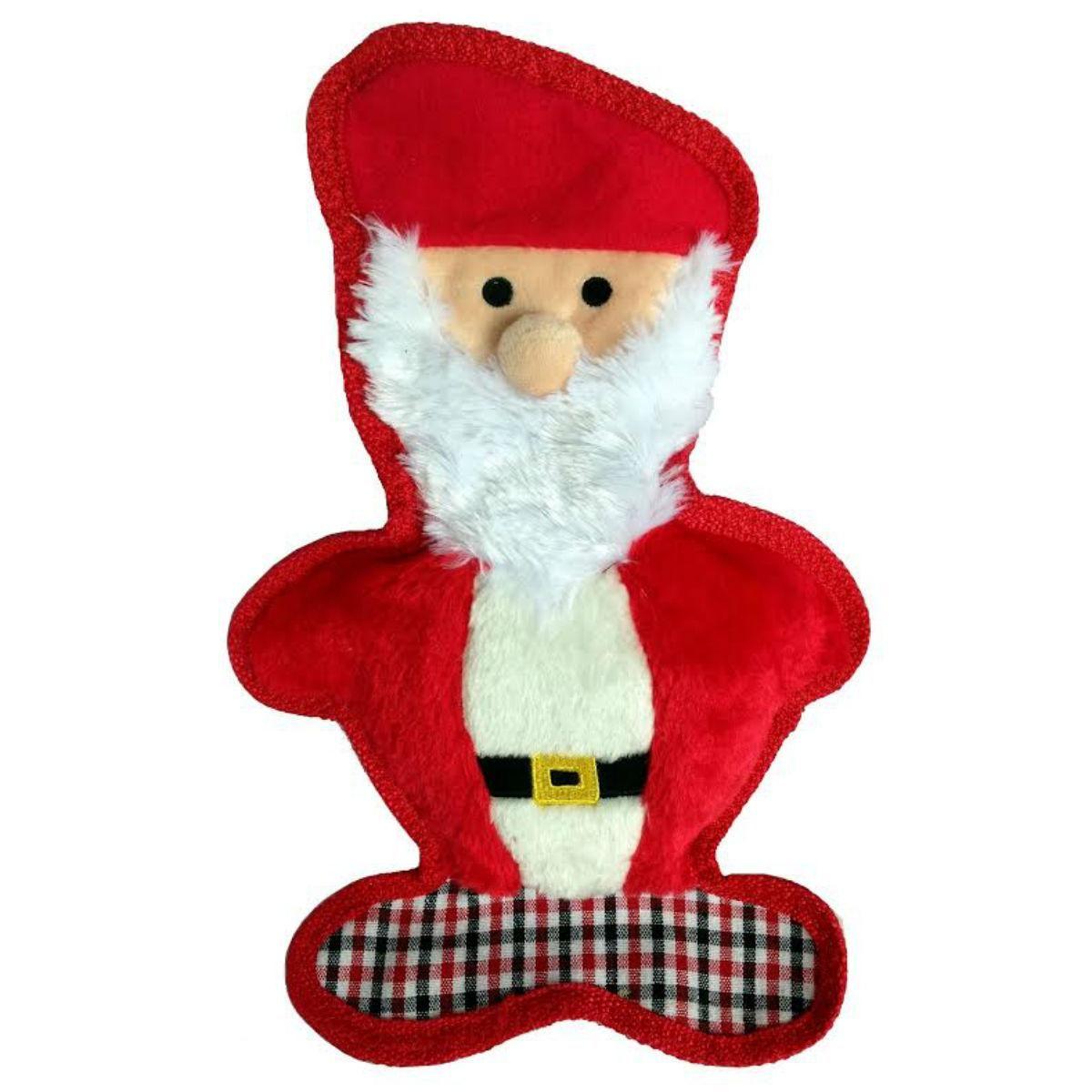 Interactive Dog Toys Exercise PetLou Christmas Bite Me Plaid Dog Toy - Santa