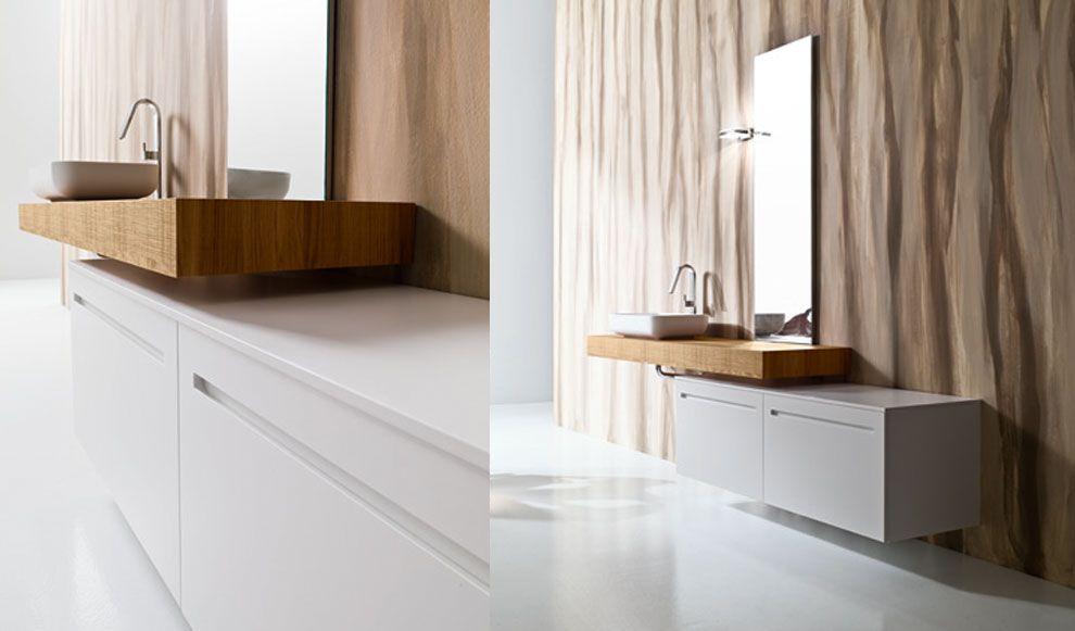 Mobili bagno dai colori naturali e linee pulite per un arredo bagno ...
