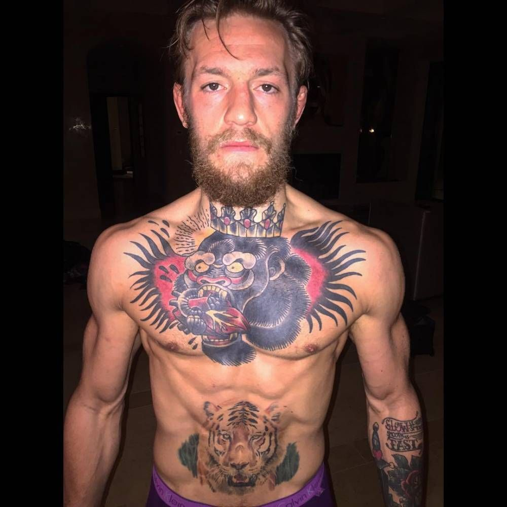 Conor Mcgregor Chest Tattoo Is Badass Chest Tattoo Conor Mcgregor Tattoo Fighting Tattoo