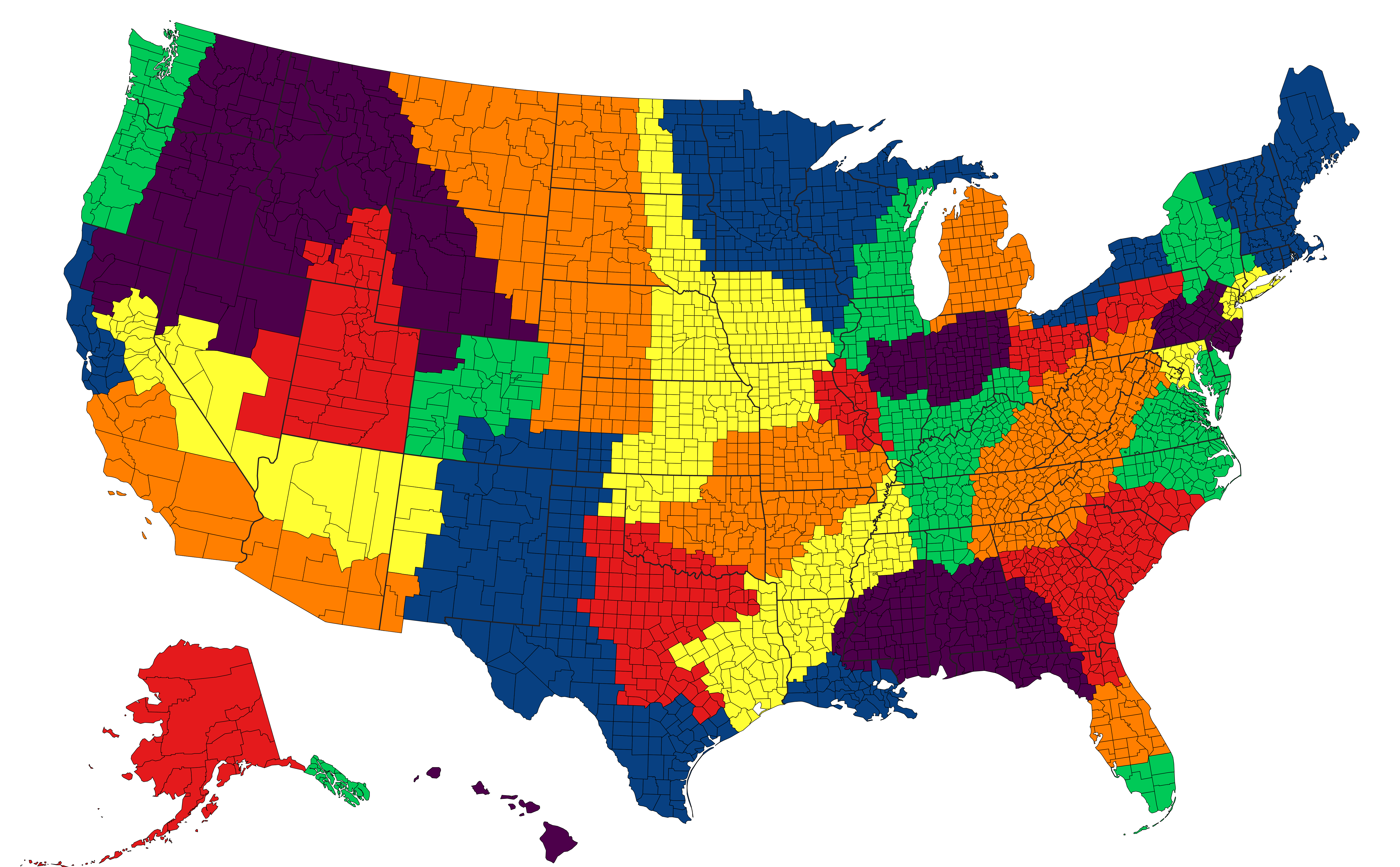 Proposed New Us States Based On Cultural Regions Weird Maps Us - Cultural-map-of-the-us