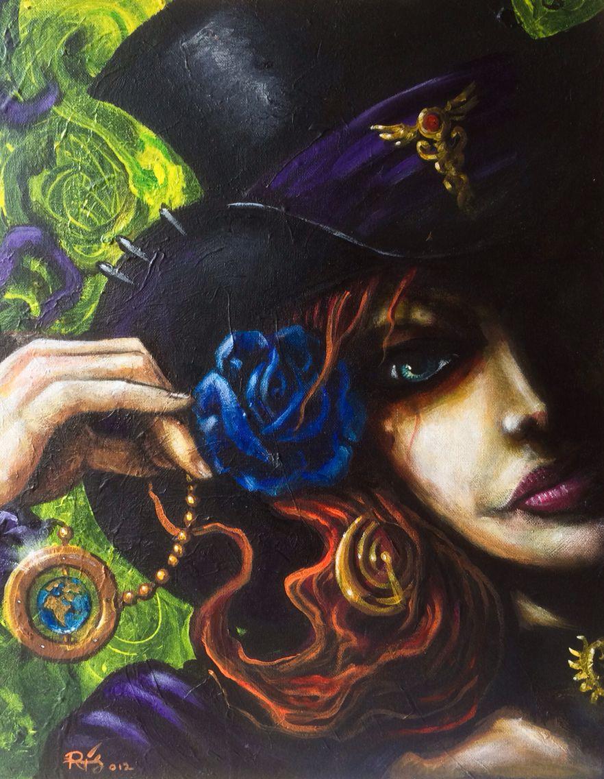 Lady bandit    acrylics on canvas