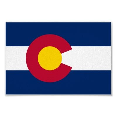 Colorado State Flag 38th State To Enter Into Union Date Of Statehood August