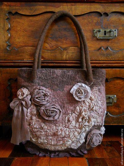 d47e9c5aa765 Женские сумки ручной работы. Ярмарка Мастеров - ручная работа. Купить  Валяная сумка Шоколад. Handmade. Валяная сумочка, шоколад