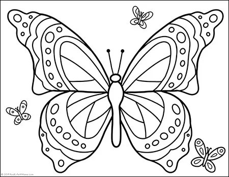 Free Printable Butterfly Coloring Page For Kids And Adults Butterfly Coloring Page Free Coloring Pages Coloring Pages