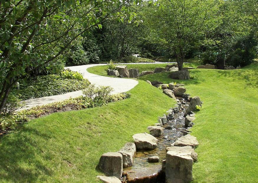 Wasser im Garten Bachlauf | Wasserrinne | Pinterest | Bachlauf ...
