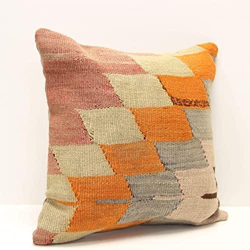 kilim pillow 16x16 inch decorative
