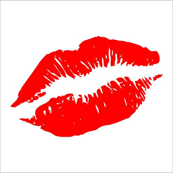 Choice of Colors /& Sizes Lips Kiss Decal Sticker Car Decal Laptop Decal