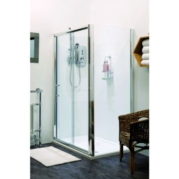 Hydrolux Meridian 1100mm Polished Chrome Sliding Door With 800mm Side Panel Pack With Tray Shower Enclosure Polished Chrome Home Decor