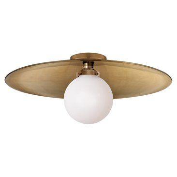 Check out this item at One Kings Lane! Bistro Flush Mount, Antiqued Brass