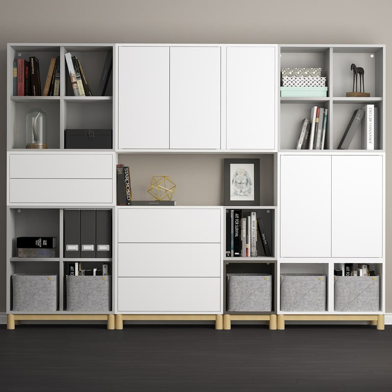 3d Decor Storage Combination Eket Model Ikea Eket Ikea Living Room Eket
