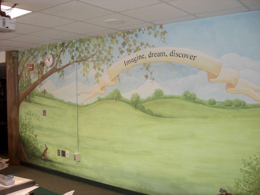 school library murals | Greenleaf Elementary School Library - Mural ...