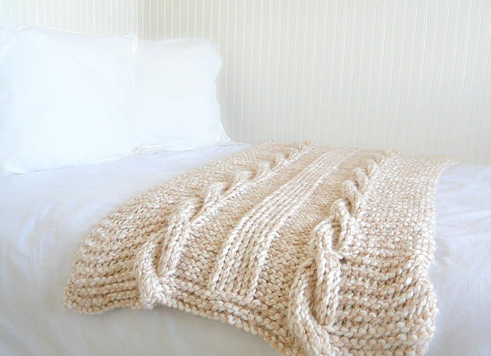 Endless Cables Knit Throw Pattern | Cable knitting, Cable and ...