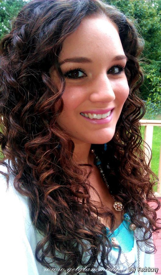 dark brown curly hair with light brown highlights 2015