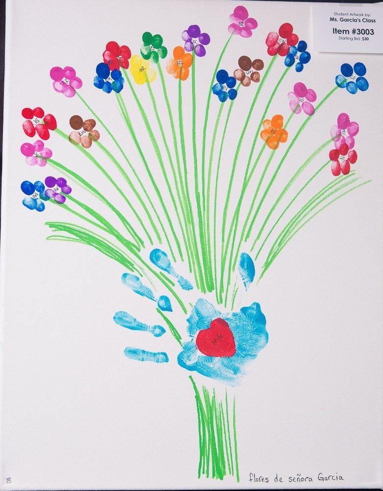 Auction Ideas Art Silent Kindergarten Projects Preschool Group Fingerprint Graduation