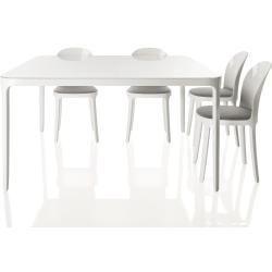 Magis Vanity Table Tisch Quadratisch Kleine Ausfuhrung Tischplatte Und Beine Weiss Lack In 2020 Furniture Design Farm House Living Room Apartment Furniture