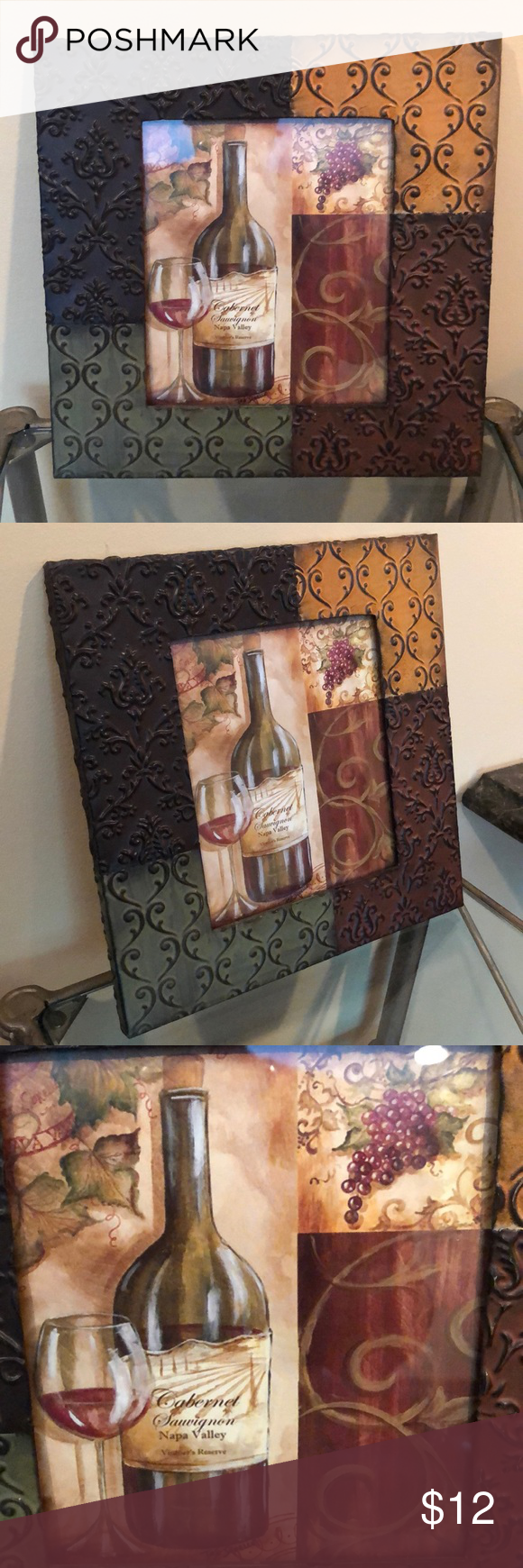 Framing A 10x10 Room: Wall Art 10x10 Metal Frame And Wine Walk Art. Other