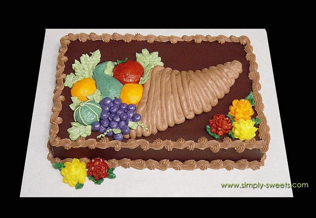 Cornucopia Cake Design 2 Thanksgiving Cakes Decorating Sheet Cakes Decorated Holiday Cakes