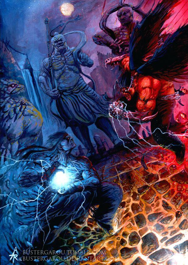 evil ryu vs devil jin by bustergarou deviantart com on deviantart