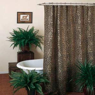 Leopard Animal Safari Print Shower Curtain Printed Shower