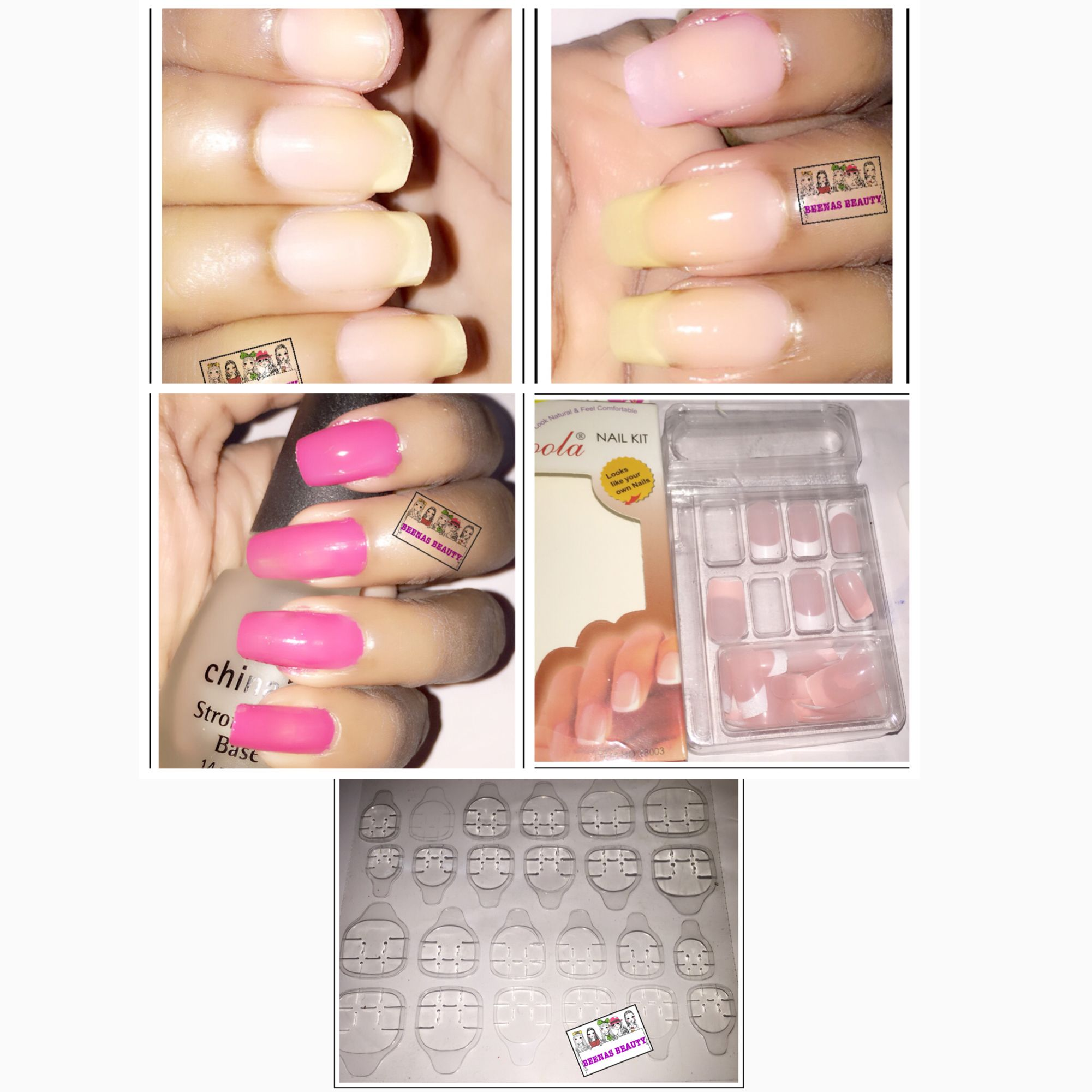 How to fix broken nail easily and fast. Can choose any fake nail ...