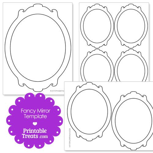 Printable Fancy Mirror Template Fancy Mirrors Hand Mirror