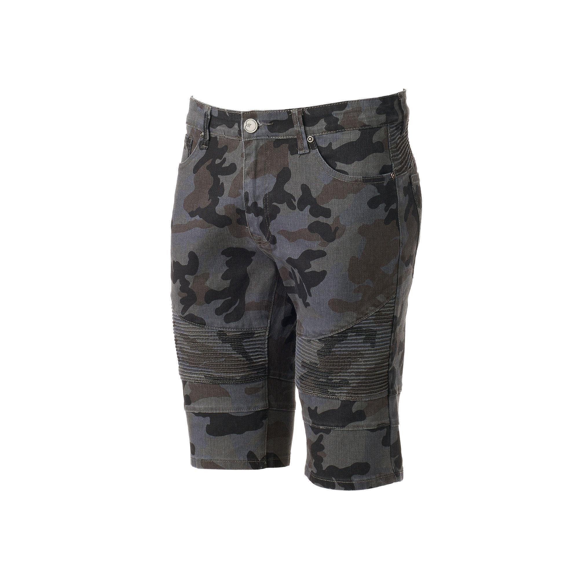 d9593b637a Men's Xray Slim-Fit Camo Moto Stretch Denim Shorts, Size: 40, Grey