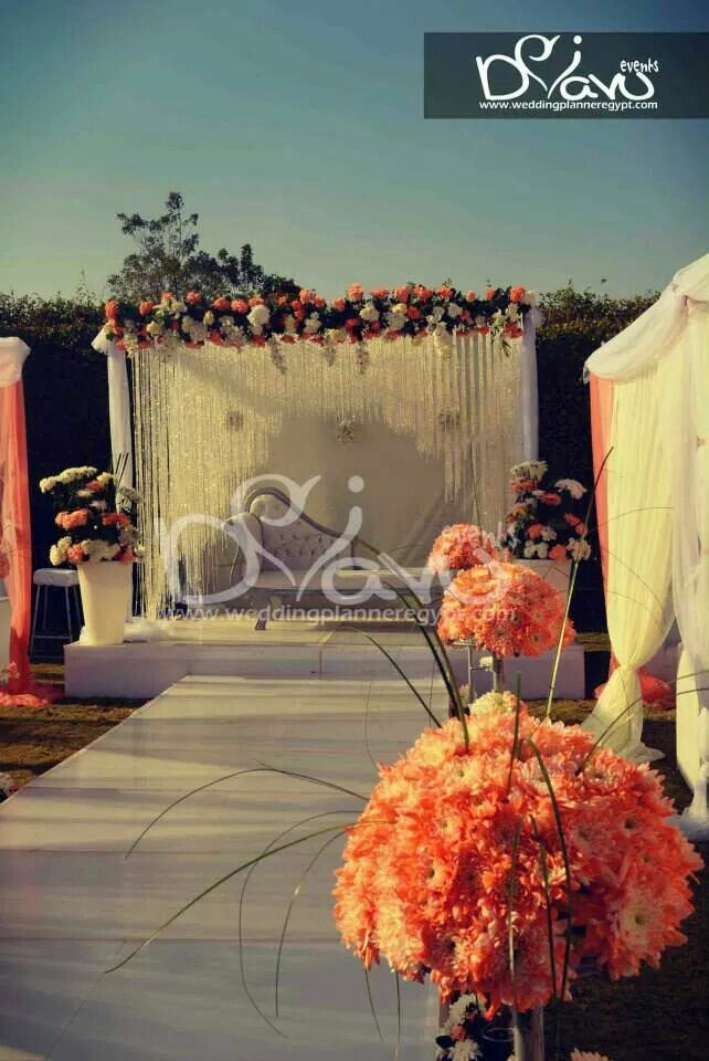 Decoration wedding orange