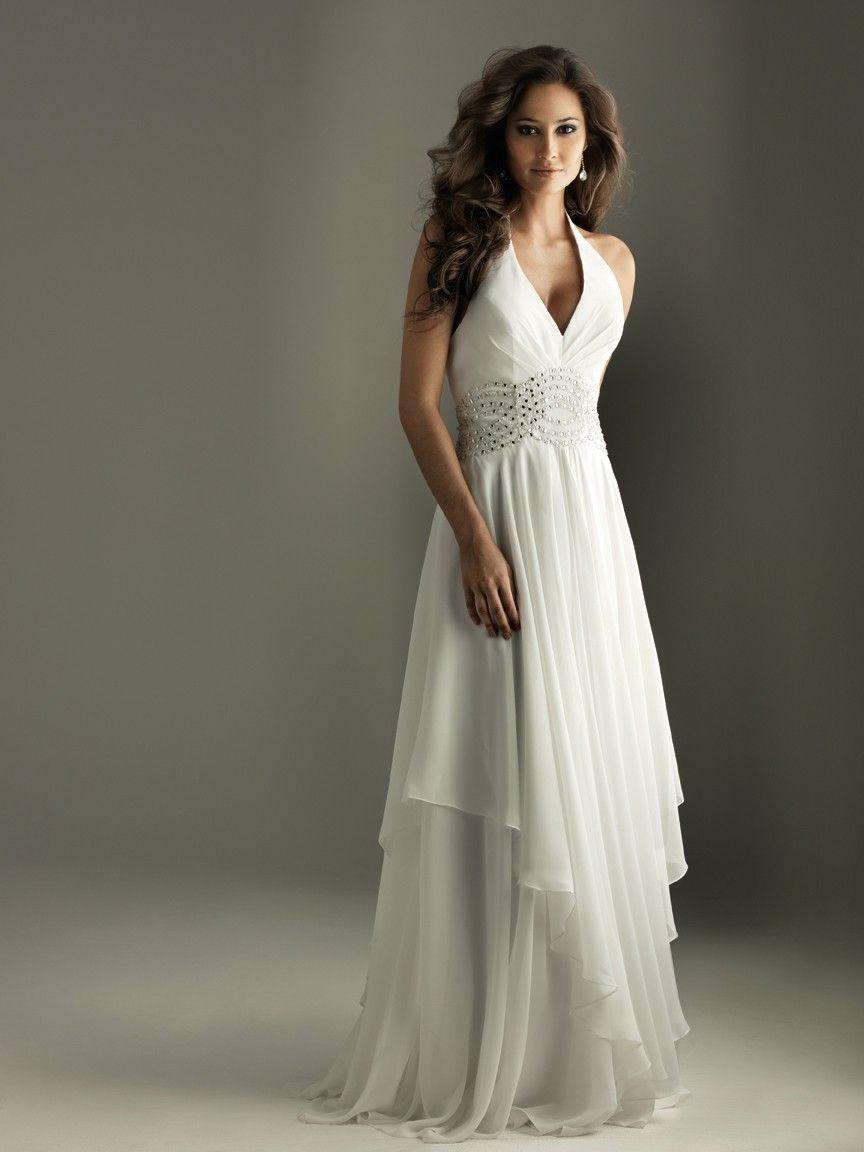 Gray Halter Chiffon Dress