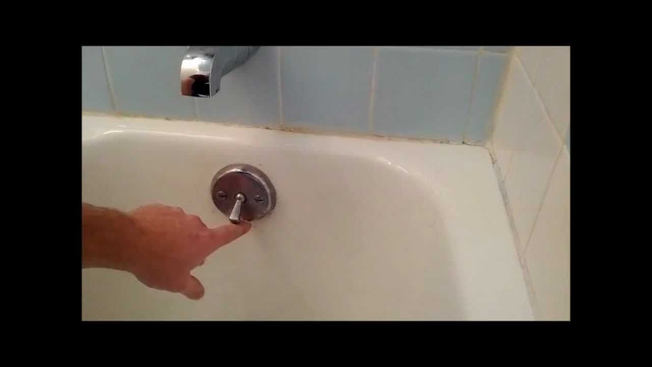 Bath tub trip lever/ bath tub stopper replacement or ...