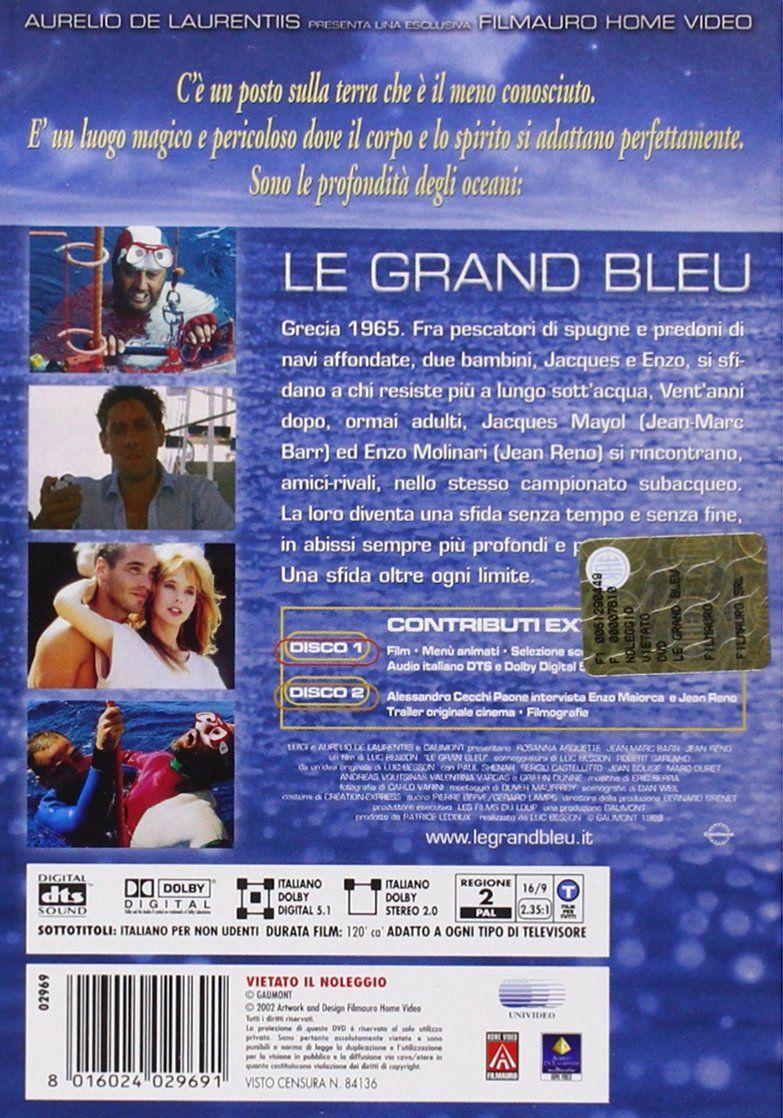 Le Grand Bleu Special Edition 2 Dvd Bleu Grand Le Dvd