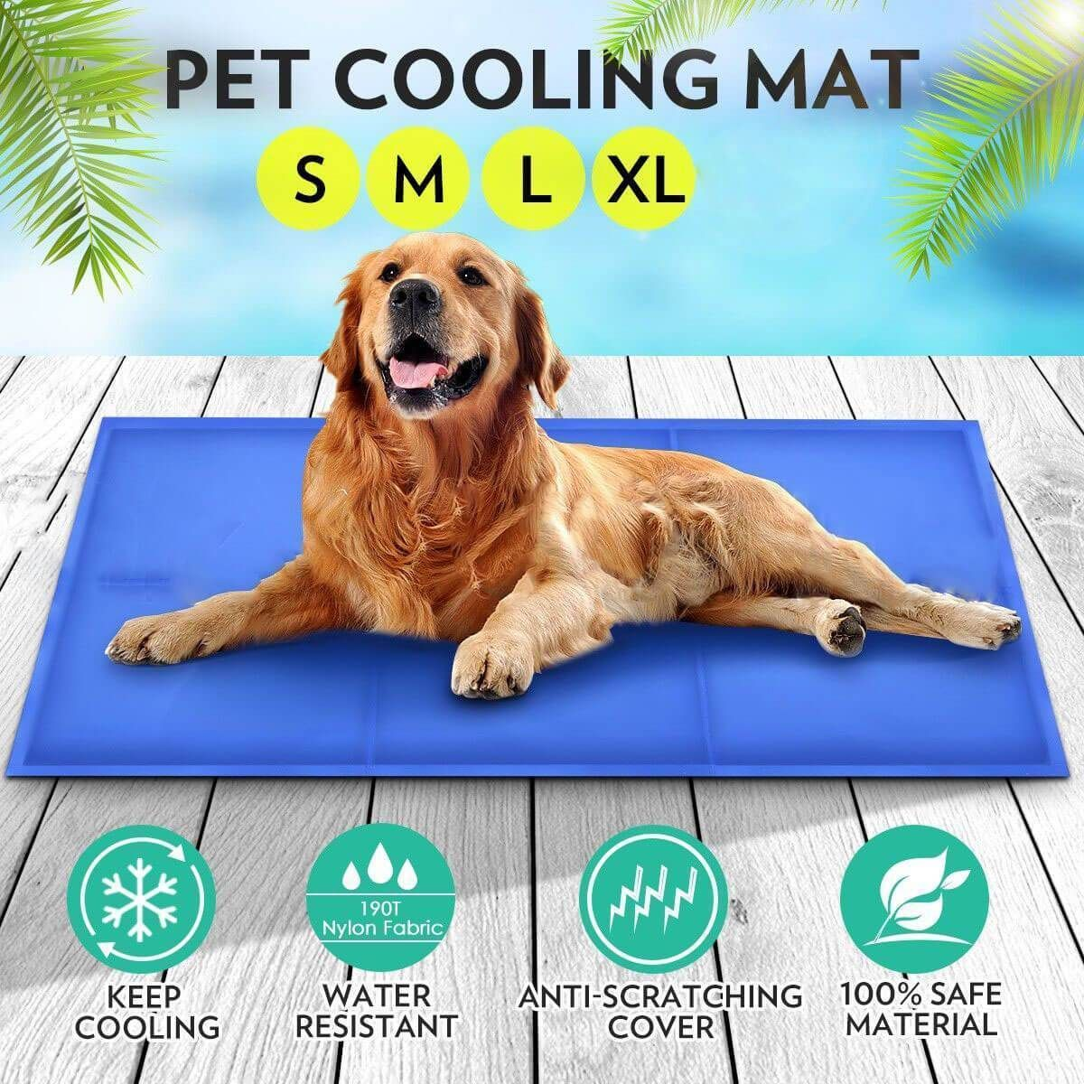 Summer Self Cooling Dog Bed Water Droplets 50x90cm In 2020 Pet