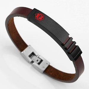 Boys Medical Id Bracelets Leather Bracelet