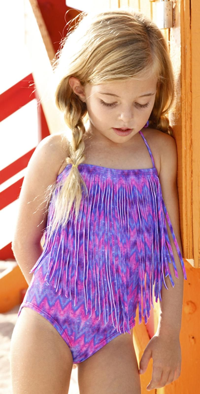 Peixoto Kids Berry Zilggy Magnolia Swimsuit 51603-P38 ...