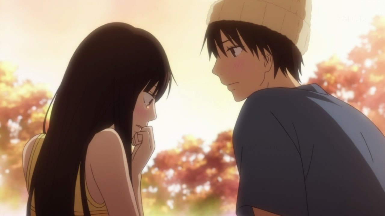 Kimi ni todoke!! I'm pretty sure this was season 2 after the credits of the last episode. They are too adorable I cried so much during this anime