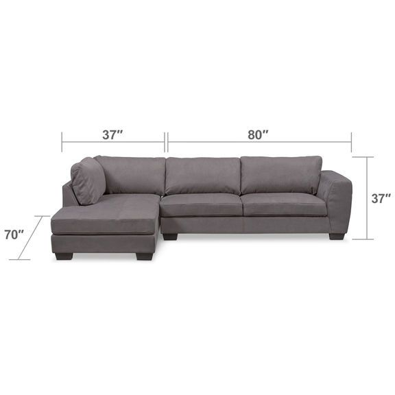 Excellent Santana 2 Piece Sectional With Chaise Furniture Sofa Andrewgaddart Wooden Chair Designs For Living Room Andrewgaddartcom