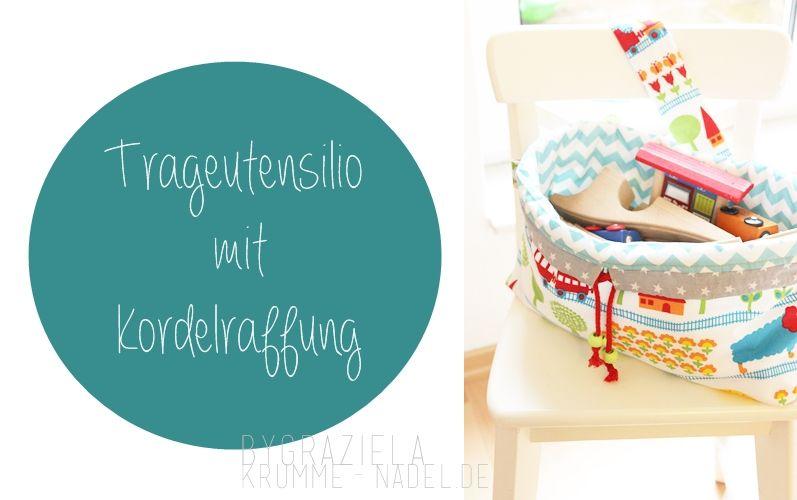 Utensilo Beutel zum mitnehmen, mit Kordelraffung, für Spielsachen, Wäsche oder was auch immer