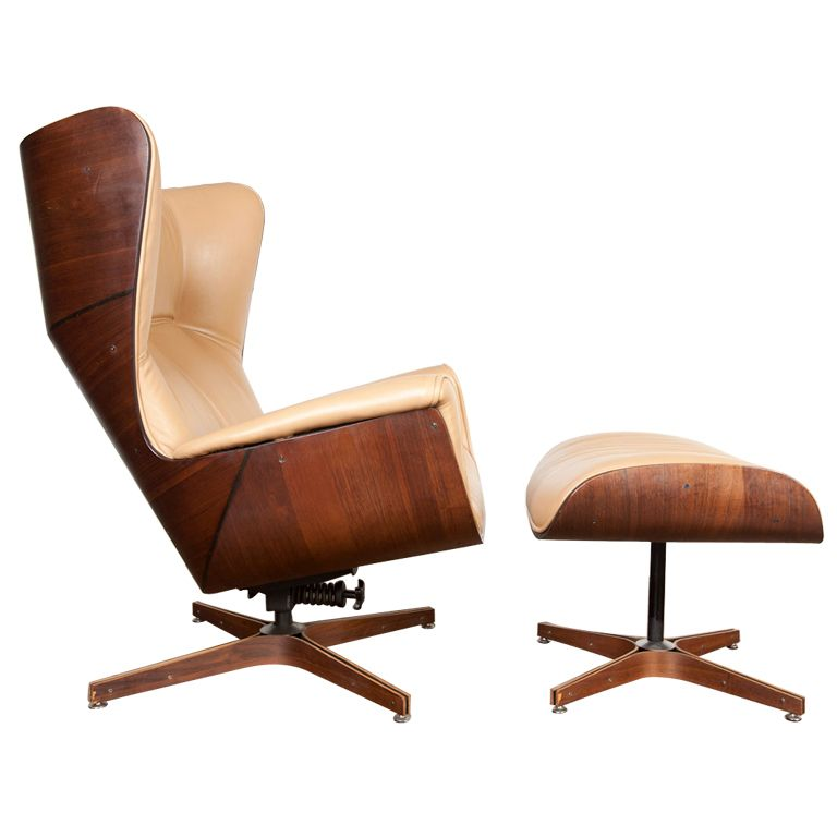 Wood Lounge Chairs bent-wood lounge chair and ottoman designedgeorge mulhauser