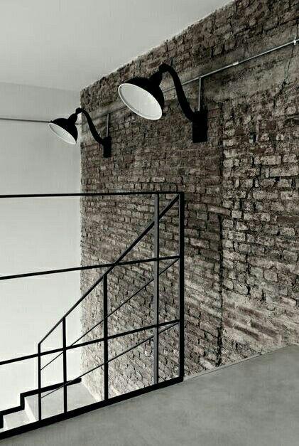 Lamparas de pared Proyectos que debo intentar Pinterest - lamparas para escaleras