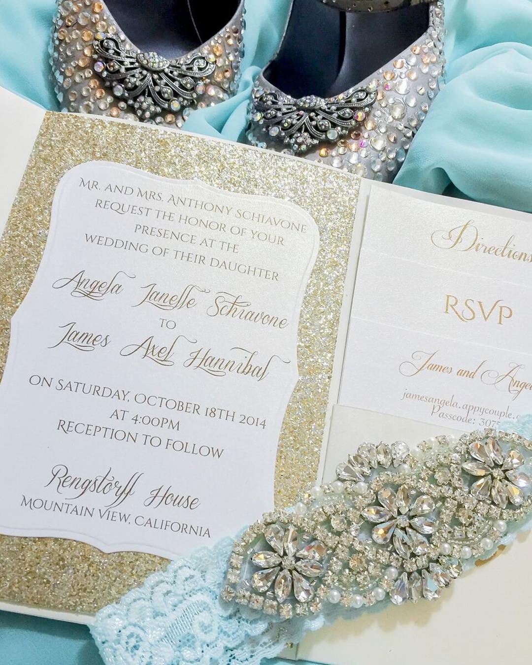 This #flashbackfriday sparkly teal wedding was on of our ...
