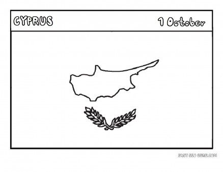 Printable Flag Of Cyprus Coloring Page Printable Coloring