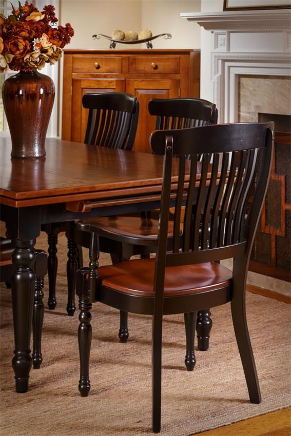 Amish Grainvalley Drawleaf Extension Dining Table Leather Dining Room Chairs Dining Room Sets