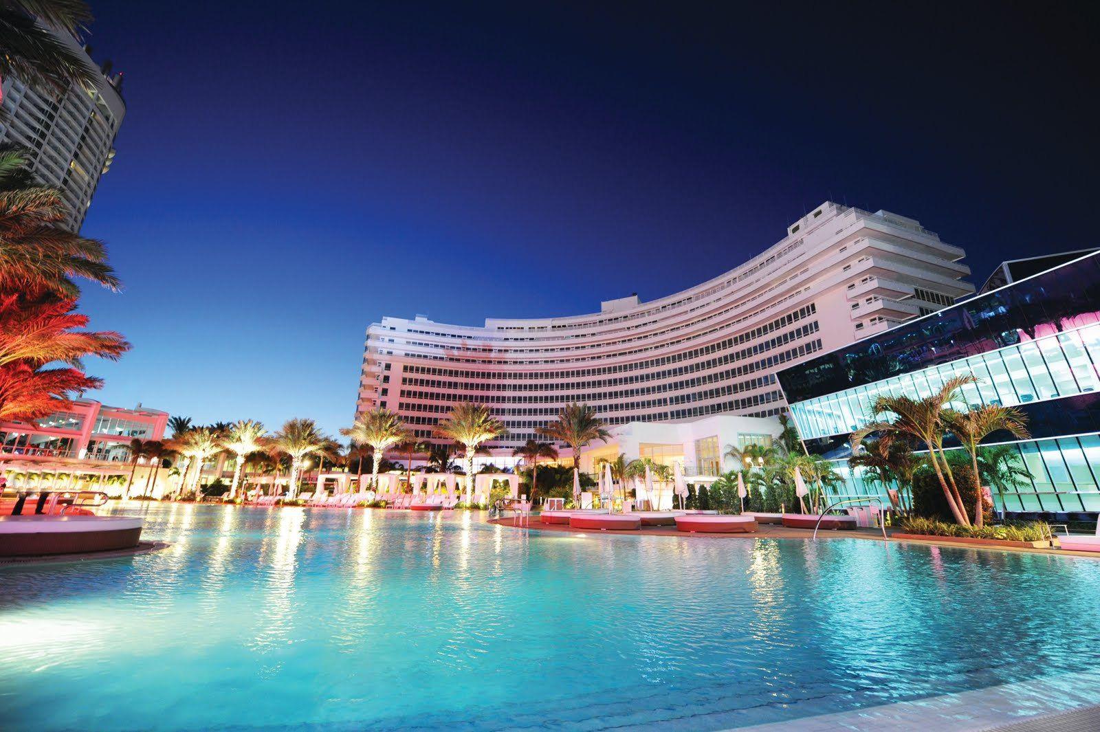 Fontainebleau Hotel Miami Beach Hd Widescreen Wallpaper