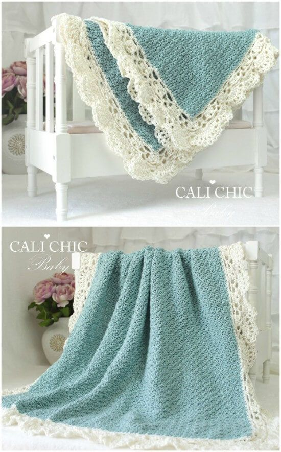 Baby Blanket Crochet Patterns With Beautiful Edging | The WHOot #crochet