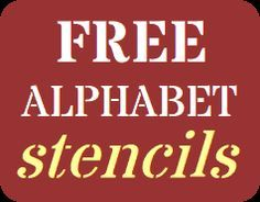 Free Printable Stencils For Alphabet Letters Numbers Wall Painting Stencils For Free Stencils Printables Free Stencils Printables Alphabet Stencils