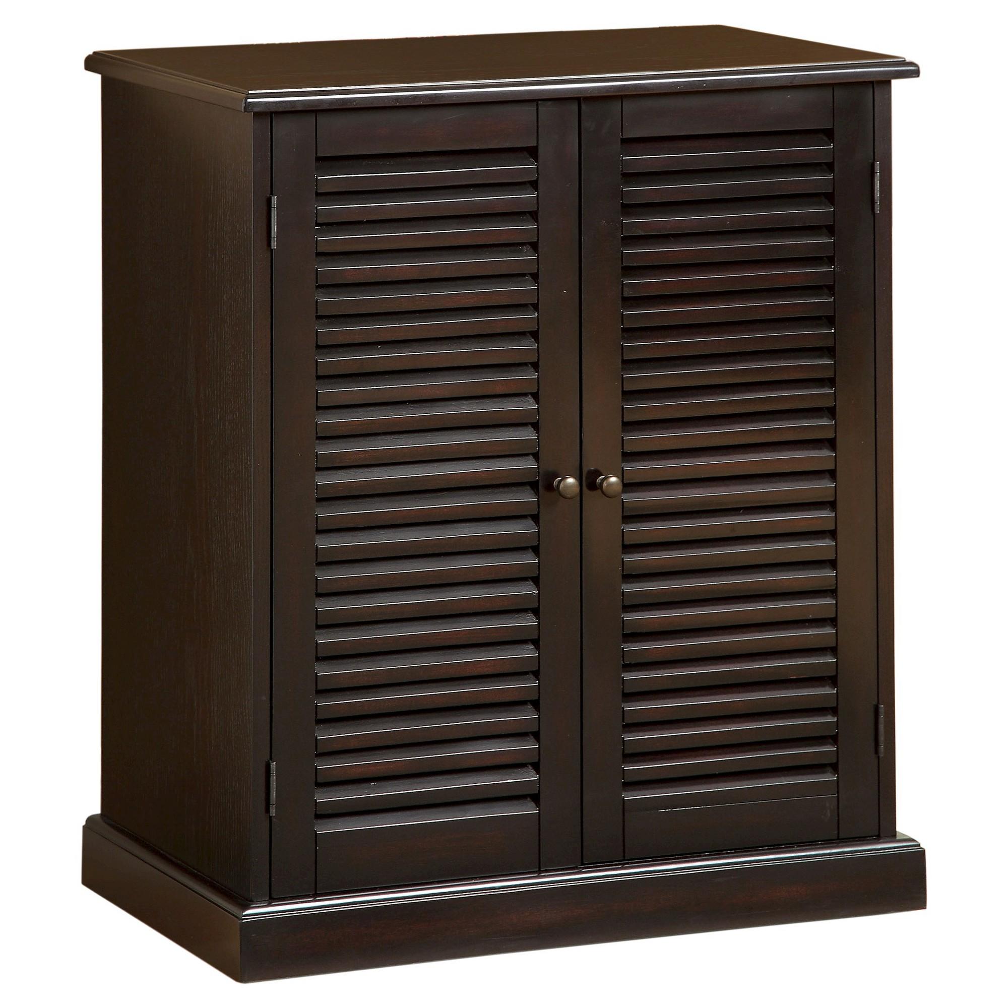 Mibasics 5 Shelf Shoe Cabinet Espresso Brown Shoe Cabinet